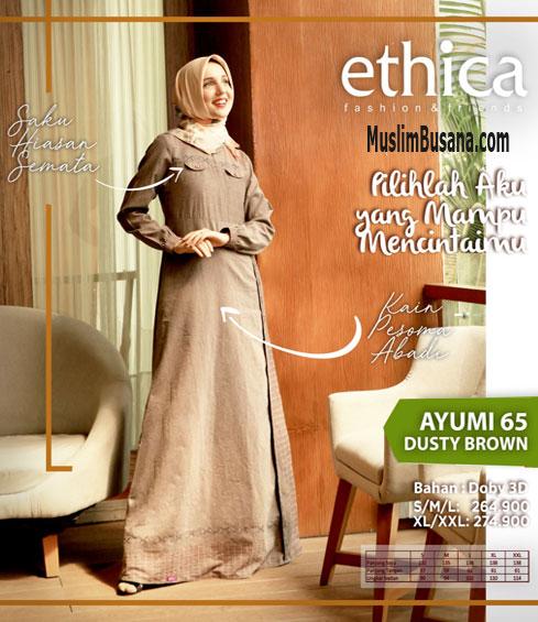 Ethica Ayumi 65 Dusty Brown - Ethica Gamis Gamis Dewasa