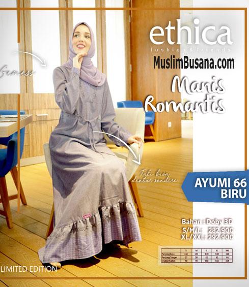 Ethica Ayumi 66 Biru - Ethica Gamis Gamis Dewasa