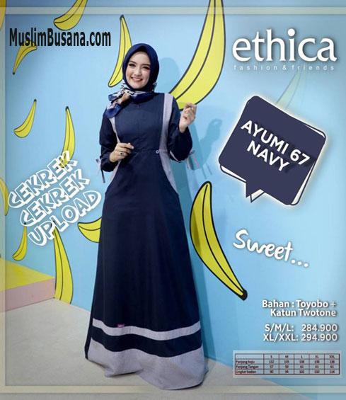 Ethica Ayumi 67 Navy - Ethica Gamis Gamis Dewasa