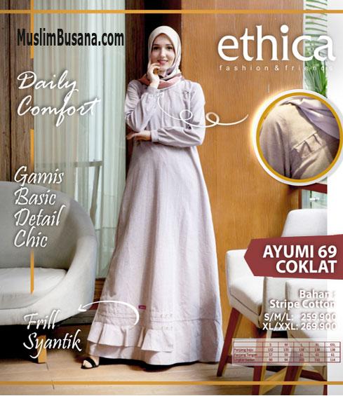 Ethica Ayumi 69 Coklat - Ethica Gamis Gamis Dewasa