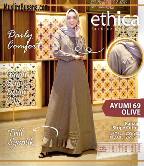 Ethica Ayumi 69 Olive - Ethica Gamis Gamis Dewasa