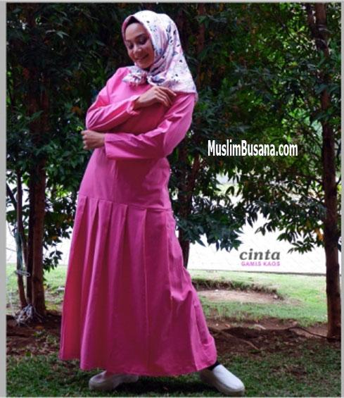 Cinta Magenta - SIK Clothing Gamis Gamis Dewasa