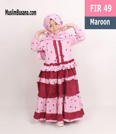 Fatih Firra FIR 49 Maroon - Fatih Fira Gamis Anak