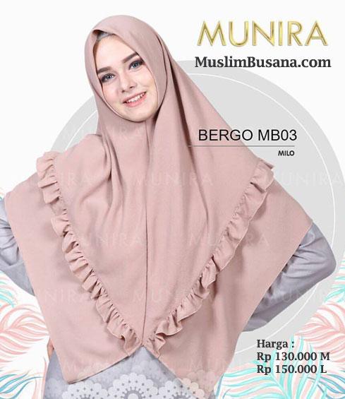 Munira Bergo MB 03 Milo - Munira Jilbab Dewasa