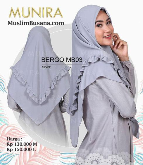 Munira Bergo MB 03 Silver - Munira Jilbab Dewasa
