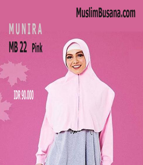 Munira MB 22 Pink - Munira Jilbab Dewasa