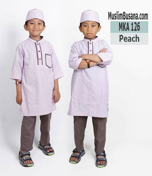 Fatih Firra MKA 126 Peach - Fatih Fira Koko Setelan Anak