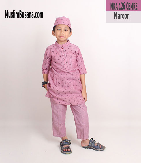Fatih Firra MKA 126 CEMRE Maroon - Fatih Fira Koko Koko Anak & Remaja