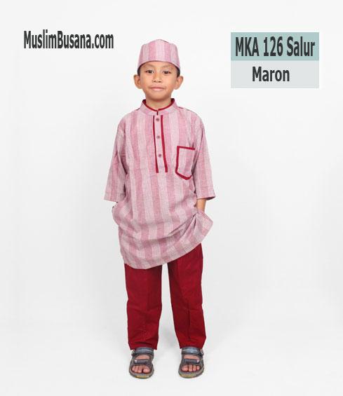 Fatih Firra MKA 126 Salur Maroon - Fatih Fira Koko Koko Anak & Remaja