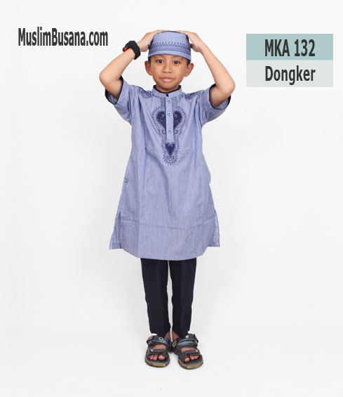 Fatih Firra MKA 132 Dongker - Fatih Fira Koko Setelan Anak