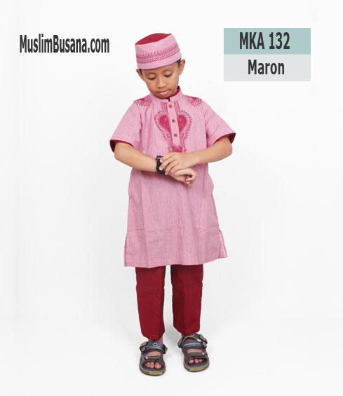 Fatih Firra MKA 132 Maroon - Fatih Fira Koko Setelan Anak