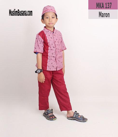 Fatih Firra MKA 137 Maroon - Fatih Fira Koko Koko Anak & Remaja