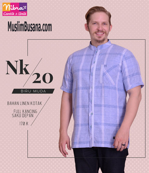 Nibras NK 20 Biru Muda - Nibras Koko Koko Dewasa