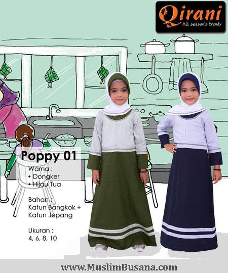 Qirani Kids Poppy 01 - Qirani Baju Anak Gamis Anak