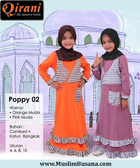 Qirani Kids Poppy 02 - Qirani Baju Anak Gamis Anak