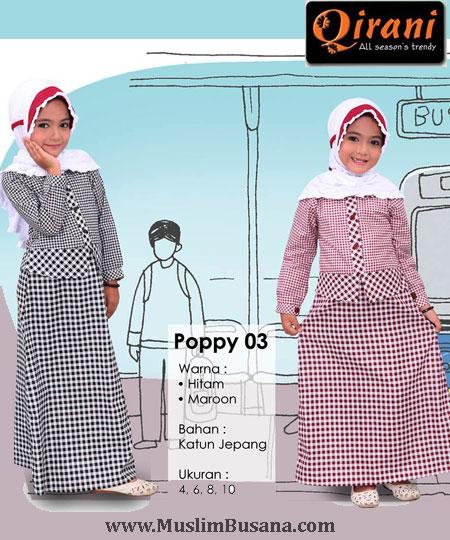 Qirani Kids Poppy 03 - Qirani Baju Anak Gamis Anak