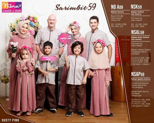 Nibras Sarimbit 59 Dusty Pink