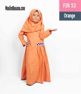 Fatih Fira FIR 52 Orange Gamis Anak