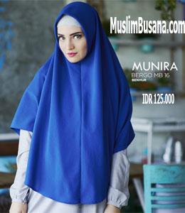 Munira MB 16 Benhur Jilbab Segi Empat