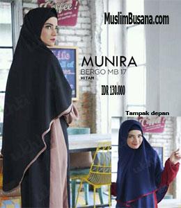 Munira MB 17 Hitam Jilbab Dewasa