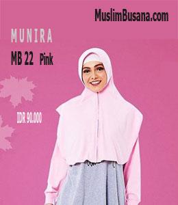 Munira MB 22 Pink Bergo