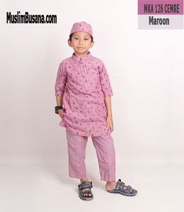 Fatih Firra MKA 126 CEMRE Maroon Koko Anak & Remaja
