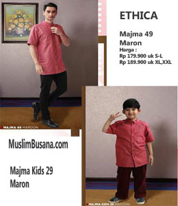 Ethica Majma 49 Maroon Koko Anak & Remaja