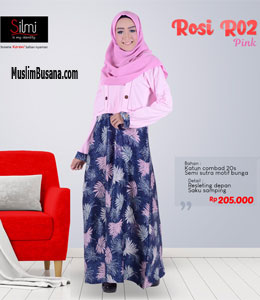 Silmi Rosi R02 Pink Gamis Dewasa