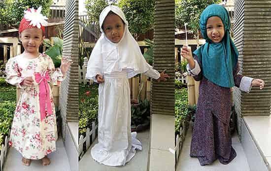 Baju anak muslimah puteri