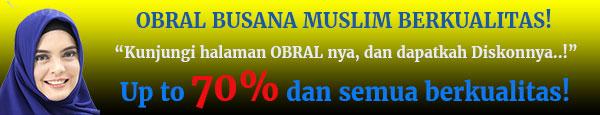 Obral promo busana muslim