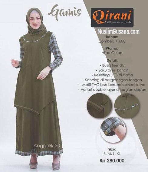 Qirani Anggrek 20 - Qirani Gamis & Atasan Gamis Dewasa