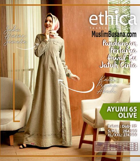 Ethica Ayumi 65 Olive - Ethica Gamis Gamis Dewasa
