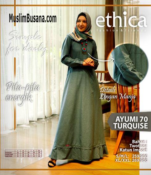 Ethica Ayumi 70 Turquise - Ethica Gamis Gamis Dewasa