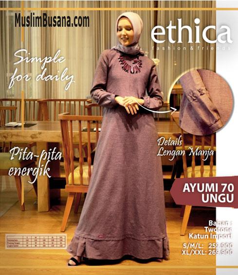 Ethica Ayumi 70 Ungu - Ethica Gamis Gamis Dewasa