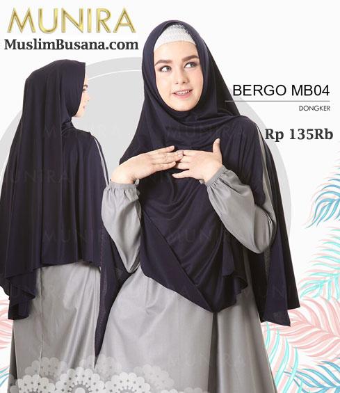 Munira Bergo MB 04 Dongker - Munira Jilbab Dewasa
