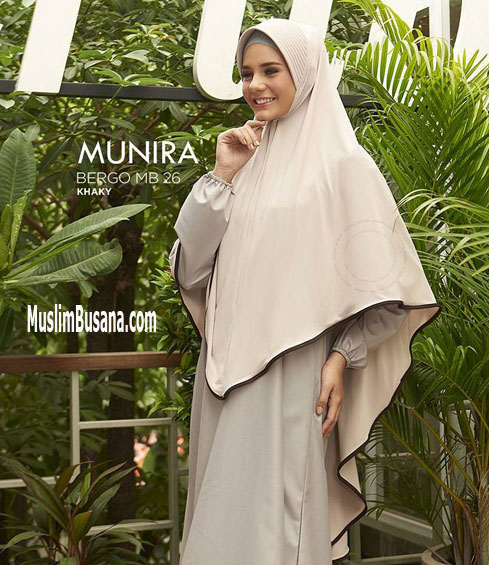 Munira MB 26 Khaky - Munira Jilbab Dewasa
