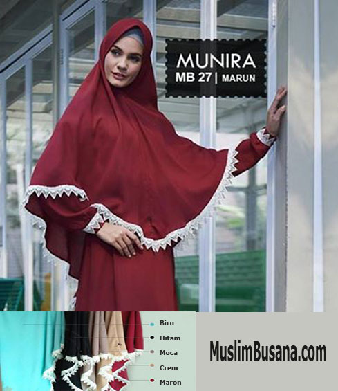 Munira MB 27 Maroon Jilbab Dewasa