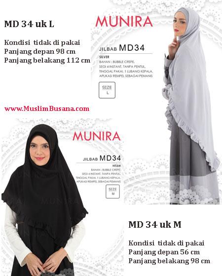 Munira MD 34 - Munira Jilbab Segi Empat