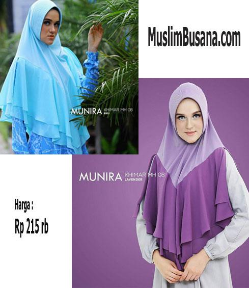 Munira MH 08 Biru Jilbab Dewasa