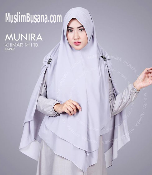 Munira MH 10 Silver Jilbab Dewasa