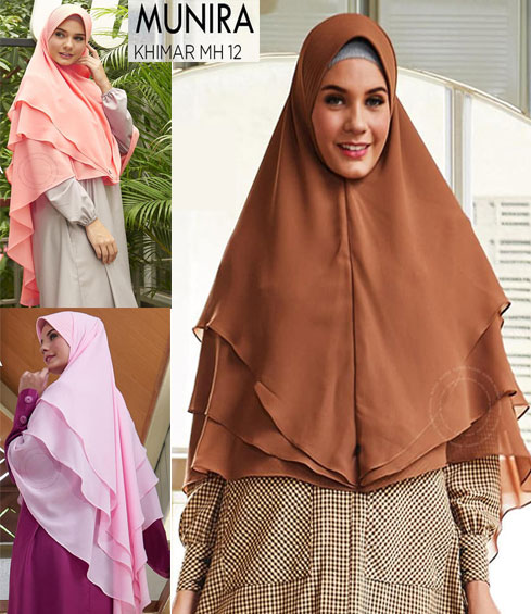 Munira MH 12 Jilbab Segi Empat