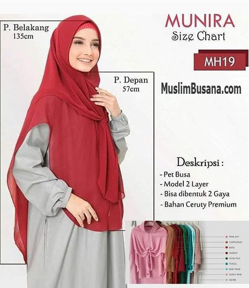 Munira MH 19 Jilbab Dewasa