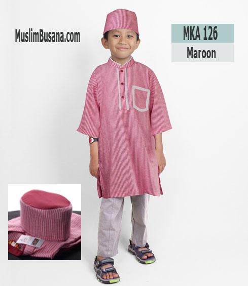 Fatih Firra MKA 126 Merah - Fatih Fira Koko Setelan Anak