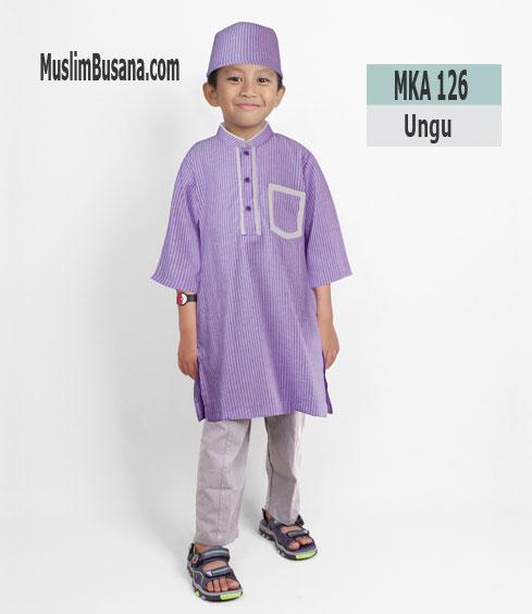 Fatih Firra MKA 126 Ungu - Fatih Fira Koko Setelan Anak