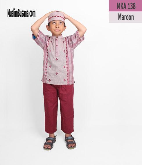 Fatih Firra MKA 138 Maroon Koko Anak & Remaja