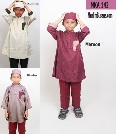 Fatih Firra MKA 142 Maroon Setelan Anak