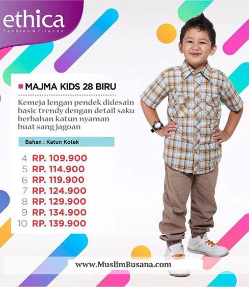 Ethica Majma Kids 28 Biru - Ethica Koko Setelan Anak