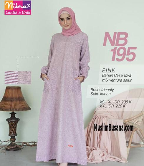 Nibras NB 195 Pink - Nibras Gamis Gamis Dewasa