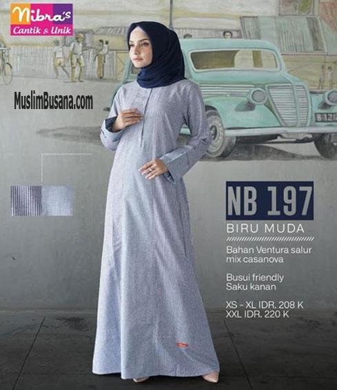 Nibras NB 197 Biru Muda - Nibras Gamis Gamis Dewasa