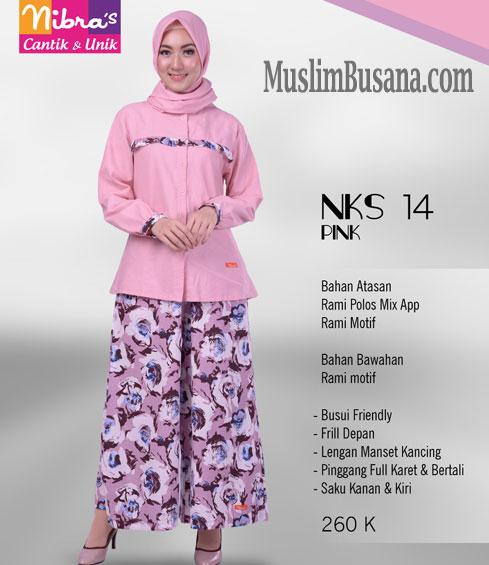Nibras NKS 14 Pink - Nibras Atasan dan Bawahan Setelan Dewasa